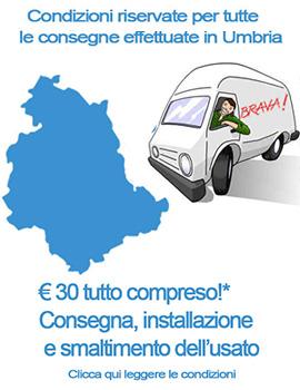 Consegne in Umbria